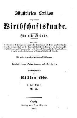 Illustrirtes Lexikon der gesammten Wirthschaftskunde PDF