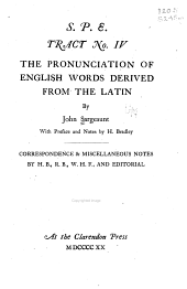 The pronunciation of English words derived from the Latin