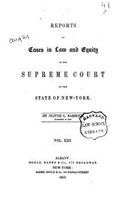 Reports of Cases in Law and Equity in the Supreme Court of the State of New York