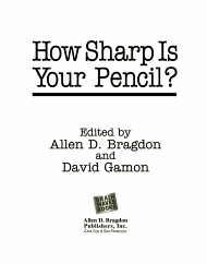 How Sharp Is Your Pencil  PDF
