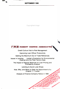 The Journal of Commercial Bank Lending PDF
