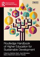 Routledge Handbook of Higher Education for Sustainable Development PDF