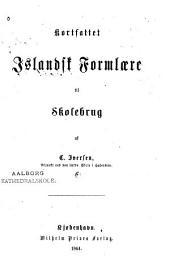 Kortfattet islandsk formlære til skolebrug