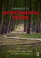 Companion to Environmental Studies PDF