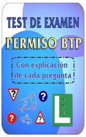 Test de examen de conducir DGT Permiso BTP: Los mejores test de autoescuela para el permiso de conducir BTP