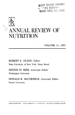 Annual Review of Nutrition PDF