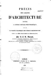 Précis des leçons d'architecture données à l'école royale polytechnique