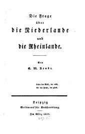 Die Frage über die Niederlande und die Rheinlande