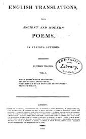 English Translations: From Modern and Ancient Poems, Volume 1