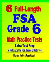6 Full Length FSA Grade 6 Math Practice Tests PDF