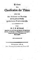 Ueber die Classification der Thiere  etc PDF