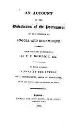 An Account of the Discoveries of the Portuguese in the Interior of Angola and Mozambique
