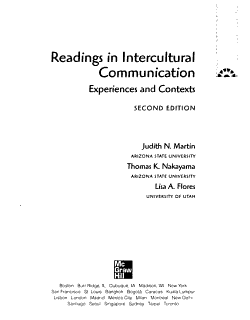 Readings in Intercultural Communication  Experiences and Contexts PDF
