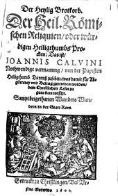 Der heylig Brotkorb der heil. römischen Reliquien