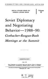 Soviet Diplomacy and Negotiating Behavior  1988 90 PDF