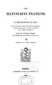 Les manuscrits françois de la Bibliothèque du roi: Volume2