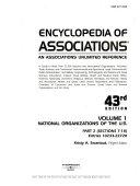 Encyclopedia of Associations V1 National Org 43 Pt2 PDF