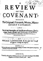 A review of the Covenant [by G. Langbaine]. by G. Langbaine: Volume 7