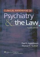 Clinical Handbook of Psychiatry   the Law PDF