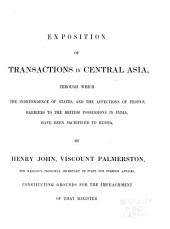 Diplomatic Transactions in Central Asia, from 1834 to 1839 ...