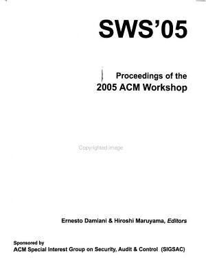 Proceedings of the     ACM Workshop on Secure Web Services PDF