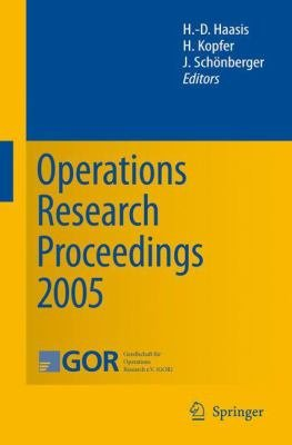 Operations Research Proceedings 2005 PDF