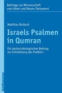 Israels Psalmen in Qumran PDF