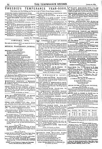 Download The Weekly record of the temperance movement  afterw   The Weekly record   Continued as  The Temperance record Book