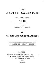 the racing calendar for the year 1858
