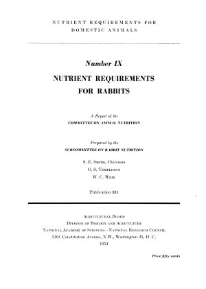 Nutrient Requirements for Domestic Animals PDF