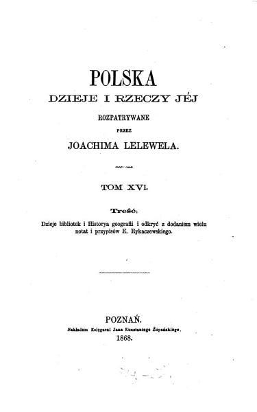 Polska dzieje i rzeczy j  j