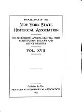Proceedings of the New York State Historical Association: Volume 17