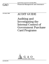 Audit guide auditing and investigating the internal control of government purchase card programs.