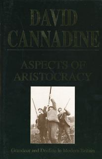 Aspects of Aristocracy Book