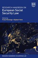 Research Handbook on European Social Security Law PDF