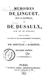 Memoires sur la Bastille