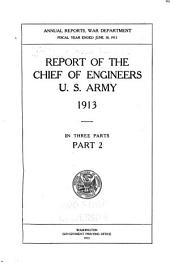 Annual Report of the Chief of Engineers, United States Army: Part 2