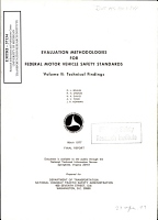Evaluation Methodology for Federal Motor Vehicle Safety Standards  Volume II  Technical Findings  Final Report PDF
