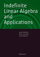 Indefinite Linear Algebra and Applications PDF