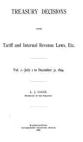 Treasury Decisions Under Tariff and Internal Revenue Laws, Etc