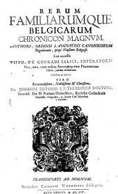 Rerum familiarumque Belgicarum Chronicon