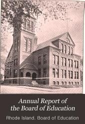 Annual Report of the Board of Education: Volume 23