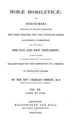 Horae Homileticae James To Jude Book PDF