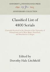 Classified List of 4800 Serials PDF