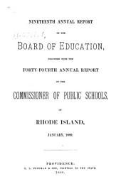 Annual Report of the Board of Education: Volume 19