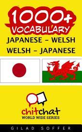 1000+ Japanese - Welsh Welsh - Japanese Vocabulary