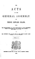 The Acts of the General Assembly of Prince Edward Island PDF