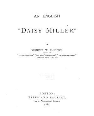 An English  Daisy Miller   PDF