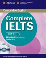 Complete IELTS Bands 4 5 Workbook with Answers with Audio CD PDF
