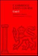 Cambridge Latin Course Book I Worksheet Masters